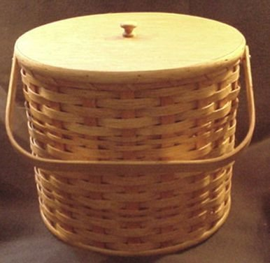 Amish Handmade Triple Three Pie Carrier Basket with Wood ...