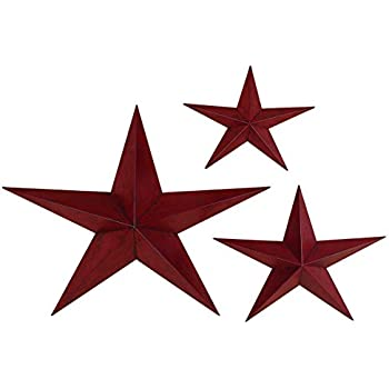 Deco 79 metal star 36 inch 24 inch and 18 for Decor star 004 ss
