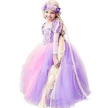 9101f6d15efe4 シンデレラ 風 ドレス キッズ プリンセスな ラプンツェル コスプレ衣装 塔の上の シンデレララプンツェル ラプンツェル