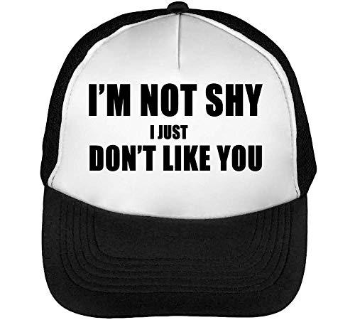 Beisbol Snapback Fonted Not Gorras Slogan I Hombre Shy I'M You Don'T Blanco Negro Black Like U7Zwq