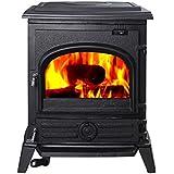 Hi-Flame Pony HF517U EPA Approved Contemporary Wood Stove, Black