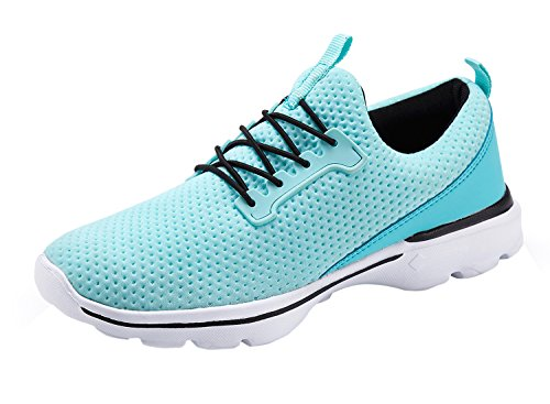 WXDZ Womens Lightweight Sport Tennis Shoes Walking Sneakers Casual Athletic Fitness Gym Jogging Running Shoes,38 Green