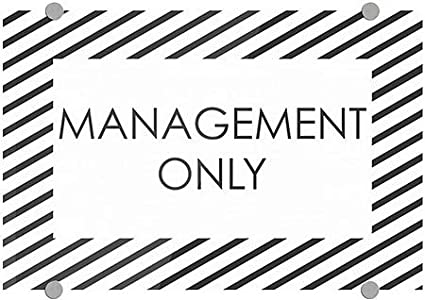 27x18 Management Only CGSignLab 2463215/_5absw/_27x18/_None Basic Black Premium Acrylic Sign