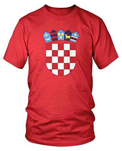 f Arms of Croatia, Croatian Arms T-Shirt, Red Small ()