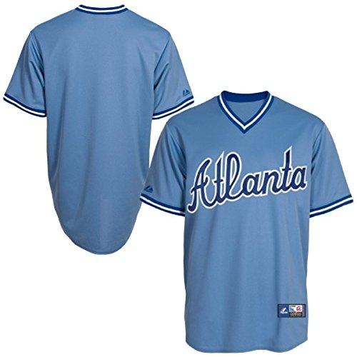 - Atlanta Braves Majestic Big & Tall Cooperstown Mens Replica Jersey - Light Blue - Size 5XLT