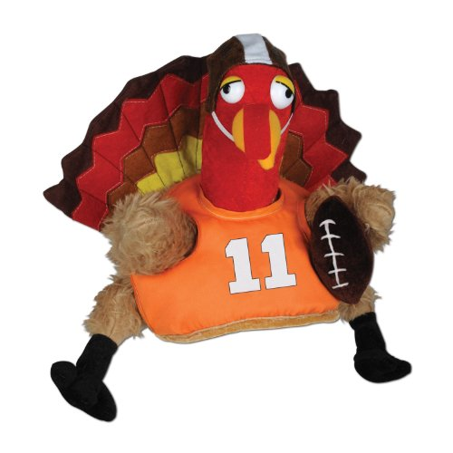 Beistle 1-Pack Decorative Plush Touchdown Turkey Hat
