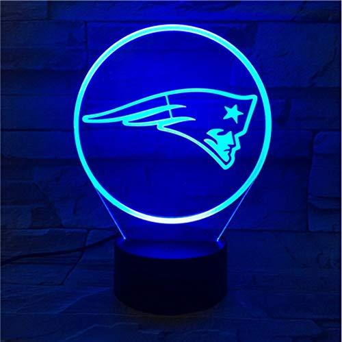 KLSOO New England Patriots Night Lamp Bedroom Touch Children Kids Gift Team Logo Led Night Light American Football