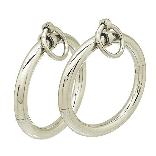 Stainless steel lockable wrist & ankle cuffs fetish wear jewelry adult bondage eternity style restraint with allen key