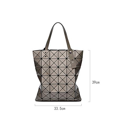 be1b7011f3de Amazon.com  Luxury Brand Designer Holographic Bag Geometric Rhombus Ladies  Handbags Fold Over Laser Tote Bags For Women Shoulder 67  Clothing