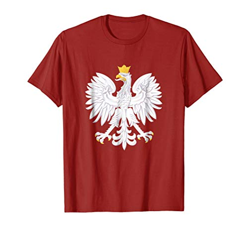 Poland Polish T-Shirt White Eagle Coat of Arms Tee Shirt