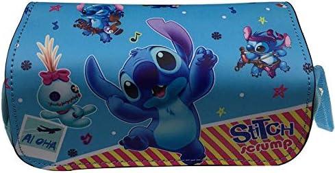 Bonito Estuche de Piel con diseño de Lilo Stitch para niños, papelería, Monedero de Gran Capacidad para niñas y Mujeres: Amazon.es: Hogar