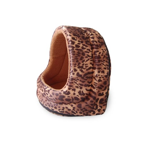 PETMAKER Furry Canopy Cave Leopard product image