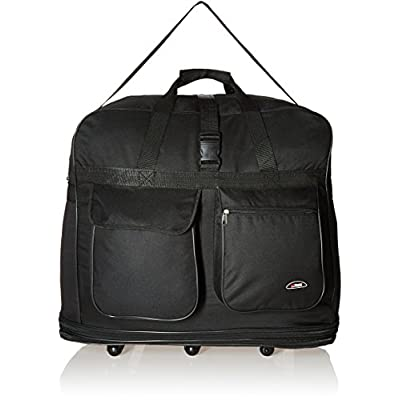 "free shipping Hipack Travel Rolling Duffle Bag 30"" Large Black"
