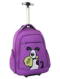 Ed Heck Money Doggie Wheeled Backpack 20-Inch, Purple, One Size