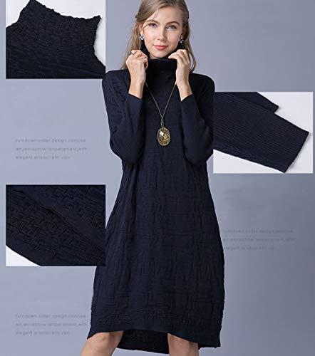 E Peso Kg Nero Blu Adatto Dimensioni 60 50 Size colore A Per Donna Dolcevita Maglione Gkkxue Collo Alto Da Con One RqP0An6aWz
