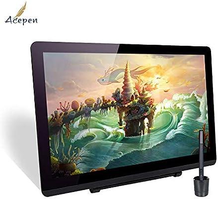 Leepesx Acepen AP2151 Tableta de dibujo de monitor gráfico de 21.5 pulgadas Resolución 1920 * 1080 HD con lápiz óptico de presión de nivel 8192/Soporte ajustable/8pcs Puntas de pluma/Soporte de pluma: Amazon.es:
