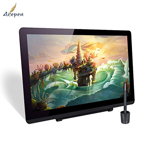 Ajcoflt AP2151 21.5 Inch Graphic Monitor Drawing Tablet 19201080 HD Resolution with 8192 Level Pressure Stylus Pen/Adjustable Stand/8pcs Pen Nibs/Pen Holder/HD Cable/USB Cable Compatible with Windows