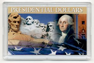 2011 D 4 Coin Uncirculated Presidential Dollars in Full Color Holders Uncirculated