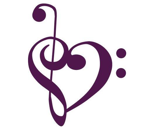 amazoncom bass and treble clef heart decal sticker automotive