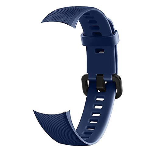 Hot Sale!DEESEE(TM) New Fashion Sports Silicone Bracelet Strap Band For Huawei Honor 4 Smart Watch (Dark blue)