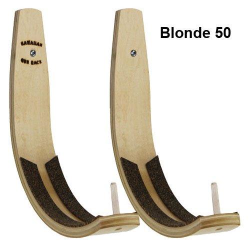 Hawaiian Gun Rack Blonde 50 Surfboard Wall Rack for Long Boards and Short Boards by Hawaiian Gun Rack