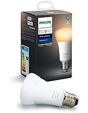 Philips Hue Standaard Lamp 1-Pack - E27 - Duurzame LED Verlichting - Warm tot Koelwit Licht - Dimbaar - Verbind met Bluetooth of Hue Bridge - Werkt met Alexa en Google Home