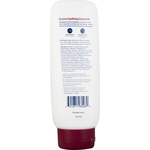 CeraVe Eczema Soothing Creamy Oil, 8 Ounce
