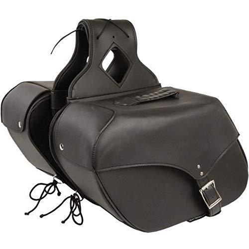 - Milwaukee Performance SH66801ZB Black Medium Zip-Off Single Strap PVC Throw Over Saddle Bag