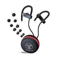 Auriculares Bluetooth TREBLAB XR800, los mejores audífonos inalámbricos para deportes, correr, entrenamientos en el gimnasio (2019 actualizado) IPX7 resistente al agua, a prueba de sudor, seguro. Auriculares con cancelación de ruido con micrófono