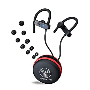 TREBLAB XR800 – Premium Sport Earphones Bluetooth – Secure-Fit IPX7 Wireless Waterproof Earbuds for Running & Workout. Top True-HD Stereo Sound, Noise Cancelling, Microphone, 2019 Sport Headphones