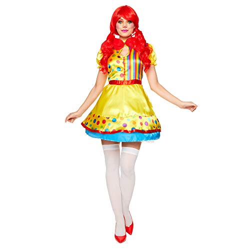 Disfraces De Payaso Para Halloween (Sexy Clown Girl Costume - Halloween Womens Fun Clown Rainbow Cosplay Dress,)
