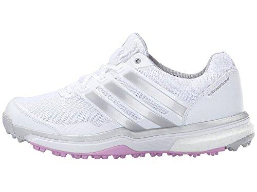 adidas Women's W Adipower S Boost II-W, FTWR White/Matte Silver/Wild Orchid-TMAG, 6 M US