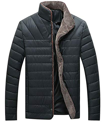 Men's Collar Plus Coat Quilted Ultralight Jacket Size Outwear Black Winter Stand TTYLLMAO vdTqwx0Ed