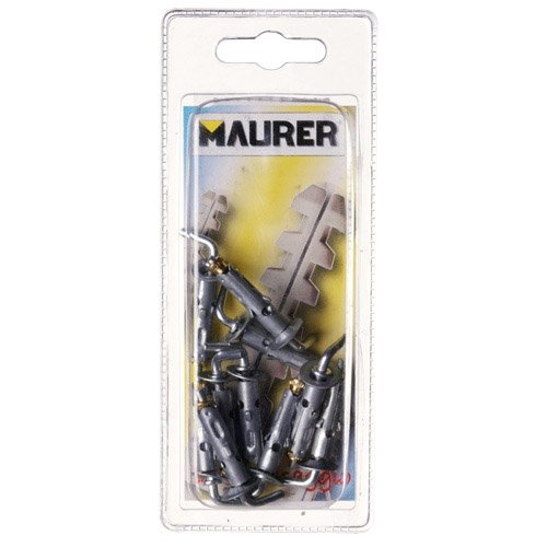 Maurer 93011 - Kit 10 Tasselli In Acciaio Mini Gancio Corto 6X25 A Forged Tool 13141005