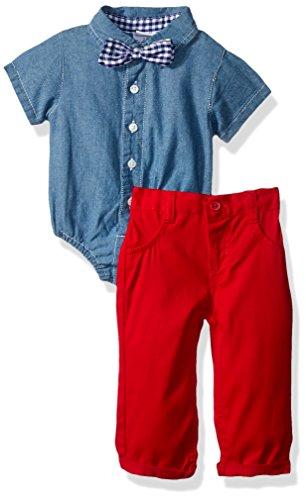 1 Creeper Set (Nannette Baby Boys 2 Piece Creeper Pant Set, Blue, 0-3 Months)