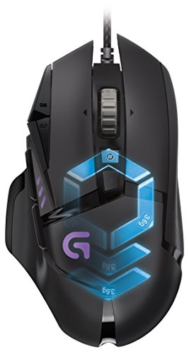 Logitech G502 Proteus Spectrum RGB Tunable Gaming Mouse, 12,000 DPI On-The-Fly DPI Shifting