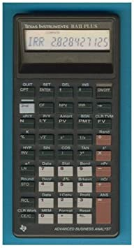 Texas Instruments BAII Plus Advanced Business Analyst Financial Calculator