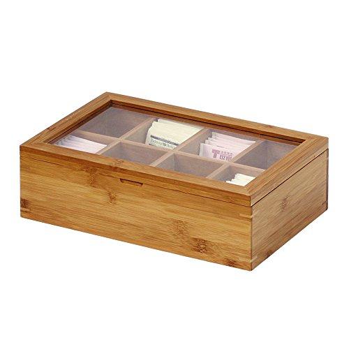 Oceanstar Bamboo Tea Box, Natural by Oceanstar (Image #3)