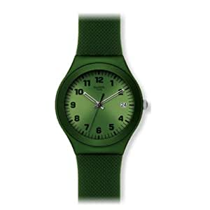 Swatch Unisex Green Effect Women's Analogue Watch with Green Dial Analogue Display - YGM4000