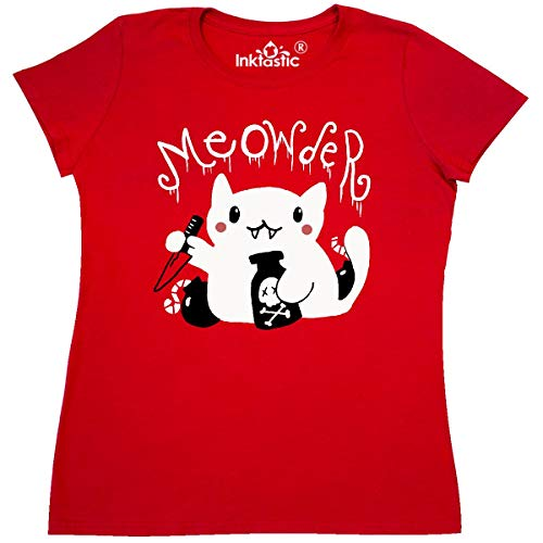 Price comparison product image inktastic - Meowder Women's T-Shirt X-Large Red - Gus Fink Studios 2adfa