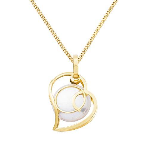 Miore - MA9095N - Collier Femme - Or Jaune 9 Cts 375/1000 1.58 Gr - Perle d'eau douce