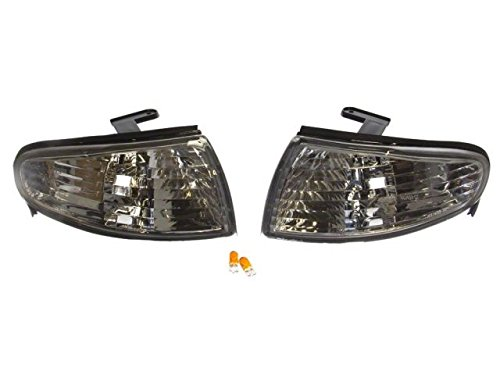 Gent5 GL018 Front Crystal Clear Corner Lamp Lights Lens Nissan S14 Zenki 240SX - Crystal Clear Corner Lights