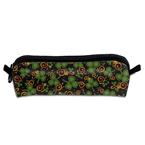 Maple Memories St. Patrick's Day Cute Pencil Case Classic Printed Pen Tool Makeup Pouch Stationery Bag