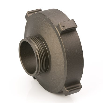 Aluminum 4 1/2'' Female NH to 2 1/2'' Male NH Fire Hose Adapter