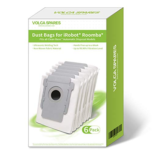 Volca Spares Disposable Bags for iRobot Roomba Clean Base Models, Pack of 6
