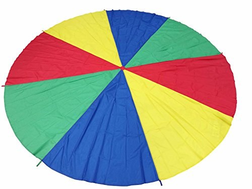 FixtureDisplays 12 Foot Play Parachute for Kids 8 Handles with Storage Bag Play Parachute for Kids Tent Picnic Mat Blanket (High 12' Rough)