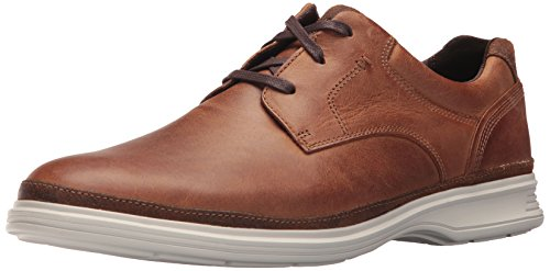 Rockport Men's Dressports 2 Go Plain Toe Shoe, New Caramel, 10.5 W - Brown Shoes New Wide