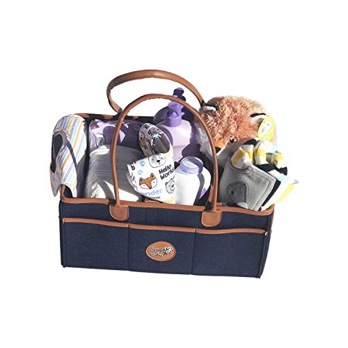 Dependable Diaper Caddy Organizer Nursery Bin Baby Shower Gift Basket For Boy Or Girl