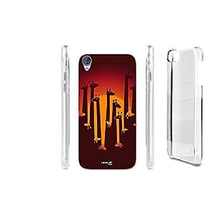 FUNDA CARCASA GIRAFFA SUNSET PARA HTC DESIRE 820
