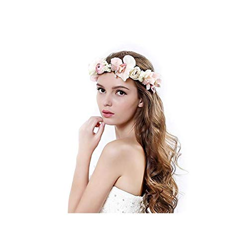 Handmade Rose Flower Wreath Crown Halo for Wedding Festivals ()